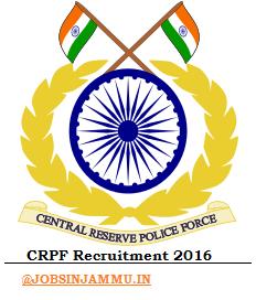 CRPF Recruitment 2016-2017 #www.crpfindia.com JAMMU & KASHMIR ZONE 560 Posts, CRPF Recruitment 2016-2017, www.crpfindia.com, JAMMU & KASHMIR ZONE, CRPF JOBS