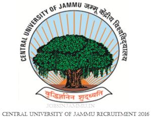 Central university of Jammu Recruitment 2017