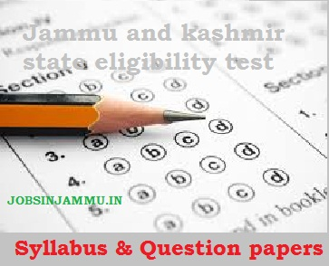 SET/ SLET J&K Syllabus & previous year question papers Download PDF